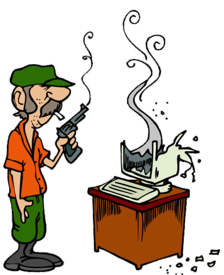 Destroyed ComputerDestroyed Computer